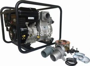 "solid handling commercial 3"" trash pump with briggs and stratton engine"