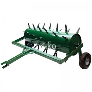 Manual pull push, hollow tines and solid tines lawn aerator